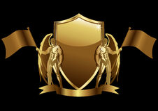 Gold Emblem Royalty Free Stock Image