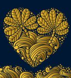 Gold Emblem heart Stock Photo