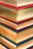 Gold Embossed Books. This is stack of leather bound, gold-embossed books royalty free stock photo