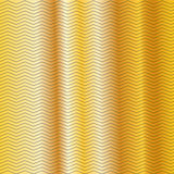 Gold embossing zigzag line on metallic background Stock Images