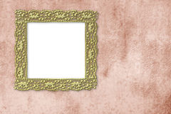Gold empty picture frame Stock Photo