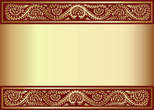 Gold(en) background with band of the Royalty Free Stock Images