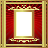 Gold(en) frame with pattern and ray Stock Photos