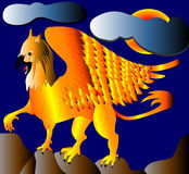 The Gold(en) griffon. Royalty Free Stock Images