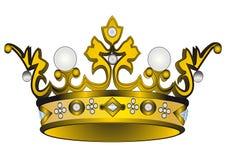 Gold(en) royal crown. Illustration gold(en) royal crown insulated on white background Stock Photo