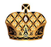Gold(en) royal crown insulated on white background Royalty Free Stock Photos