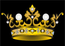 Gold(en) royal crown with pearl Royalty Free Stock Photo