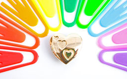 Gold at the end of the rainbow ? Royalty Free Stock Image
