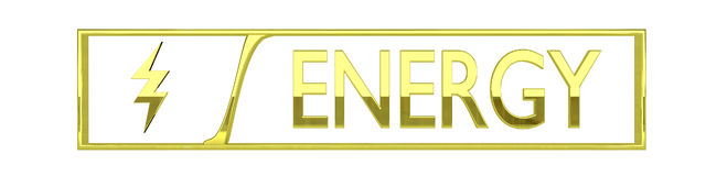 Gold energy icon - 3D render Royalty Free Stock Images