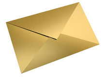 Gold envelope Royalty Free Stock Photo