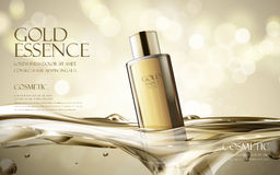 Gold essence ad Royalty Free Stock Photos