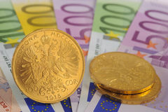 Gold and euro Stock Image