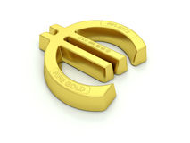 Gold Euro Bullion Royalty Free Stock Photography