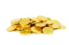 Gold euro coins Stock Photos