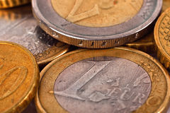 Gold euro coins Royalty Free Stock Photo