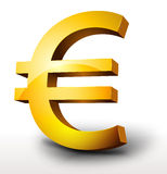 Gold Euro Currency Stock Photo