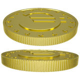 Gold euro Stock Photography