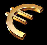 Gold Euro sign Royalty Free Stock Images