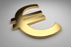 Gold Euro Stock Photo
