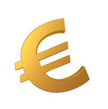 Gold euro sign Stock Images