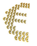 Gold euro signs Royalty Free Stock Photos