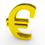 Gold euro sing. Royalty Free Stock Photo