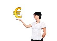 Gold euro symbol Stock Image