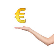 Gold euro symbol Royalty Free Stock Photos