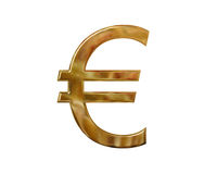 Gold euro symbol Stock Images