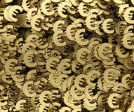 Gold euro symbol background 3d rendering Stock Photography