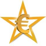 Gold euro Symbol illustration design Stock Image