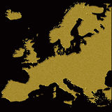 Gold europe map Royalty Free Stock Photos