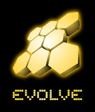 Gold evolve Stock Image