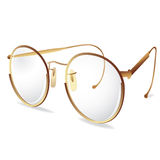 Gold eye glasses / spectacles Royalty Free Stock Photos
