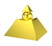 Gold eye of providence pyramid Royalty Free Stock Image