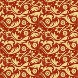 Gold f seamless pattern Stock Photo