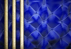 Gold on fabric background Royalty Free Stock Images