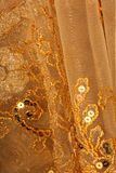 Gold fabric background Royalty Free Stock Photography