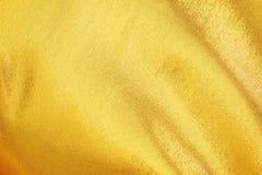 Gold fabric silk Stock Photos