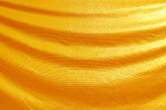 Gold fabric silk Royalty Free Stock Photography