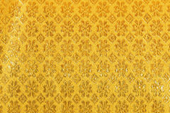 Gold fabric silk for background Stock Photography