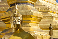 Gold face of Buddha statue Royalty Free Stock Photos