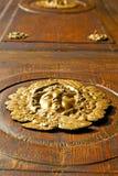 Gold face  house  door     in   column  the milano old Stock Photos