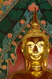 Gold Face of Lord Buddha Stock Images