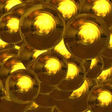Gold faceted balls Royalty Free Stock Photography