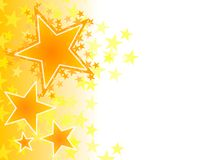 Gold Fading Stars Background Stock Photo
