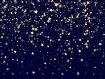 Gold falling star sparkle elements of glitter gradient vector background