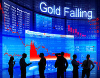 Gold Falling Royalty Free Stock Images