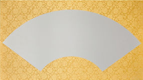 Gold fan Stock Photography