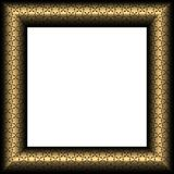 Gold Fancy Frame With Stars Royalty Free Stock Image
